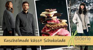 Kuschelmode trifft Schokolade